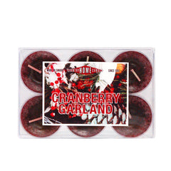 Cranberry Garland Tealights