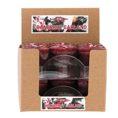 Cranberry Garland Votive Box