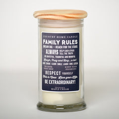 Family Rules - Inspired Life Candle