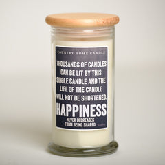 Happiness - Inspired Life Candle