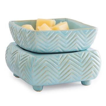 Candle Warmers 2-in-1 Melter Dish - Chevron