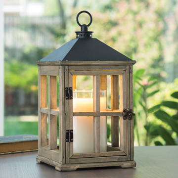 Candle Warmers Wooden Lantern - Driftwood