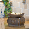 Candle Warmers 2-in-1 Melter Dish - Toffee Damask
