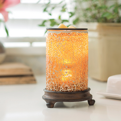 Candle Warmers Glass Illumination - Crackled Amber