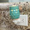 Candle Warmers Plug In - Honeycomb Turquoise