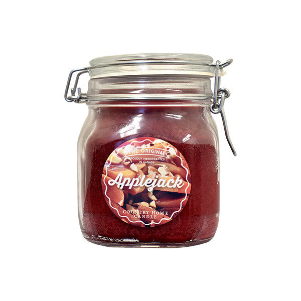 Applejack Original Jar 2 wick Candle Country Home Candle