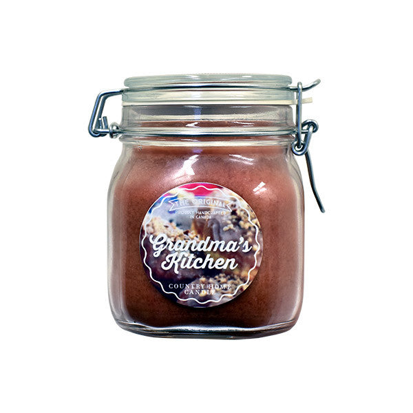 Grandma's Kitchen Original Jar 2 wick Candle Country Home Candle