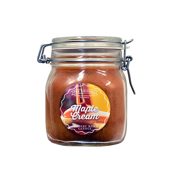 Maple Cream Original Jar 2 wick Candle Country Home Candle