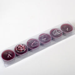 Frosted Cranberry Tealights - Cottage Life Weekend Collection