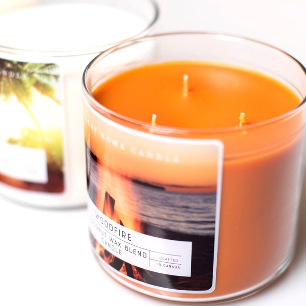 Woodfire 3 Wick Coconut Wax Candle 14.5 oz