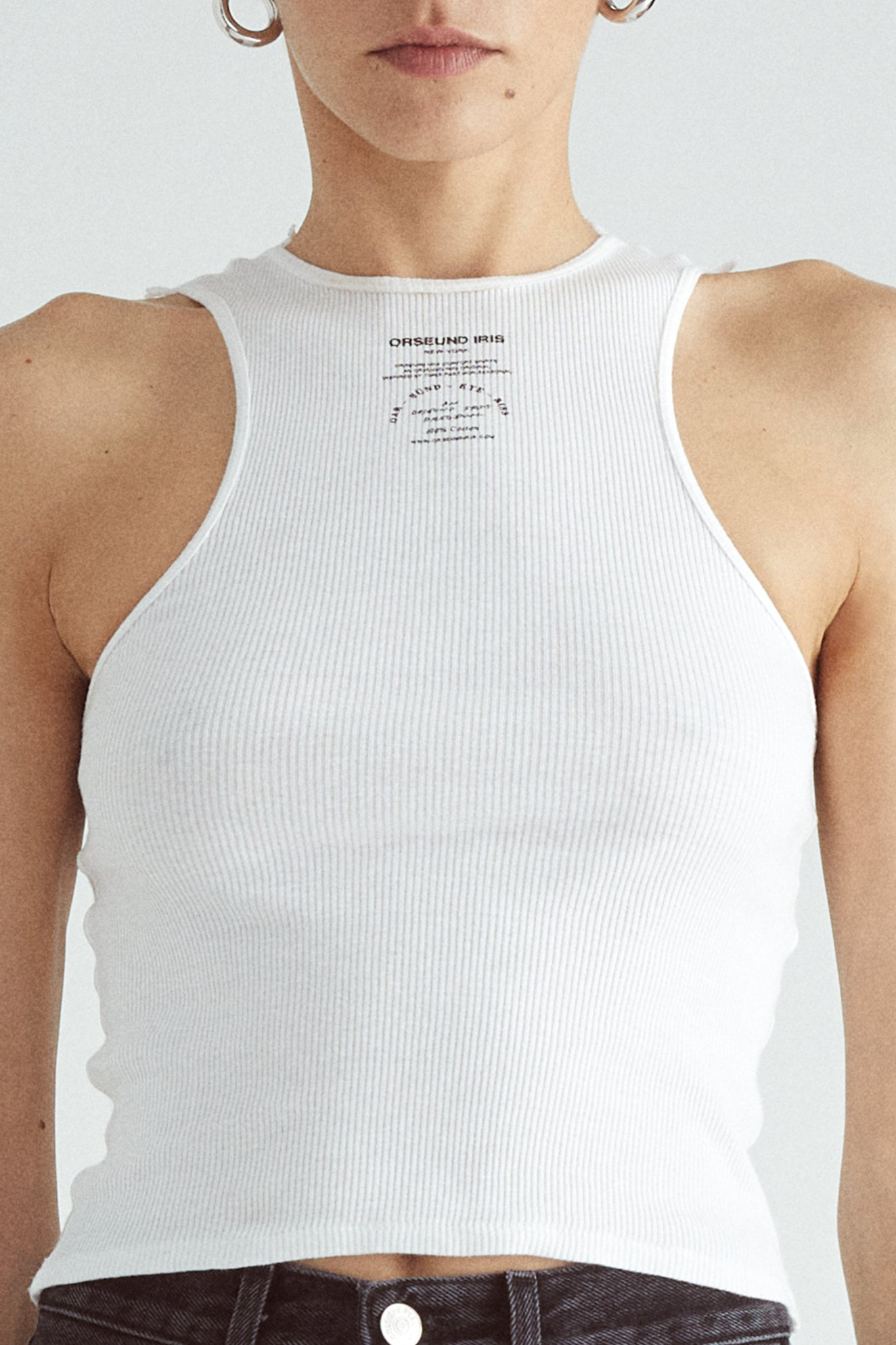 BASIC TANK LONG WHITE