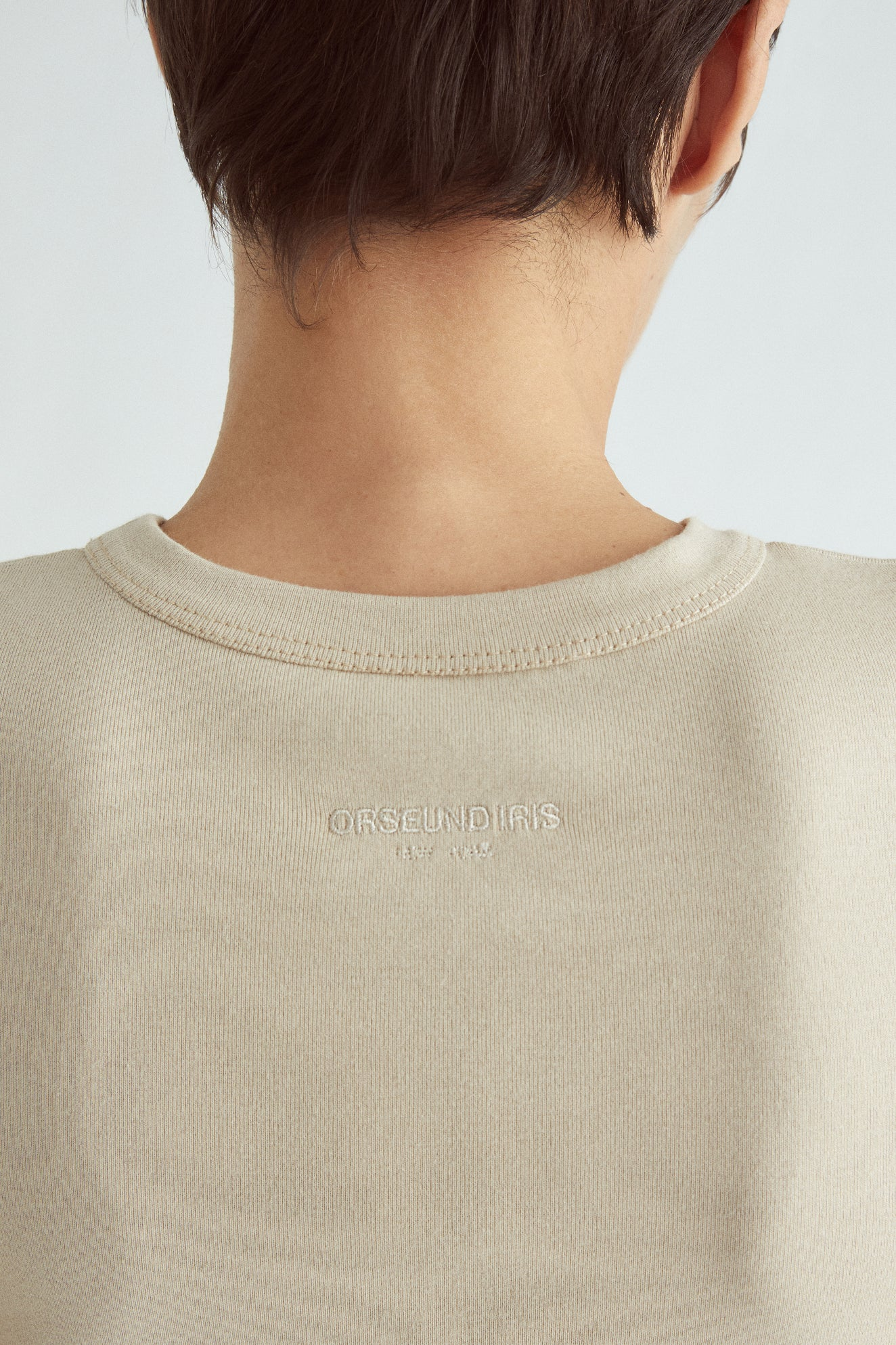CIRCLE BUST KNIT TEE SAND