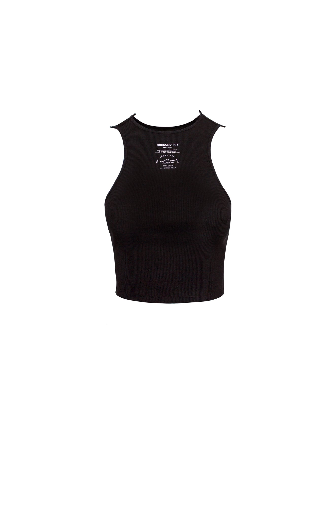 BASIC TANK CROP BLACK