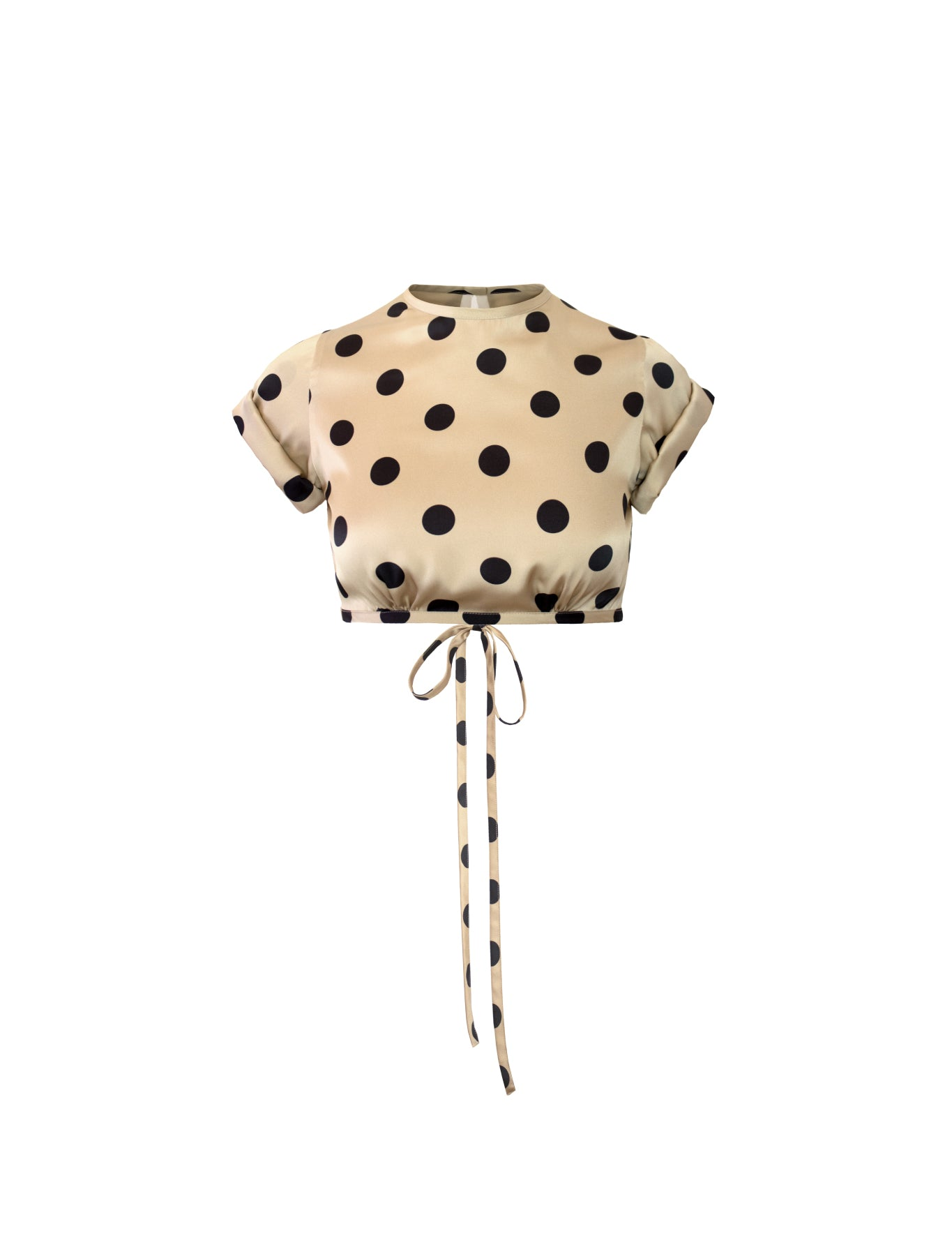 EXCLUSIVE LE CLUB TOP POLKA DOT CAMEL/BLACK