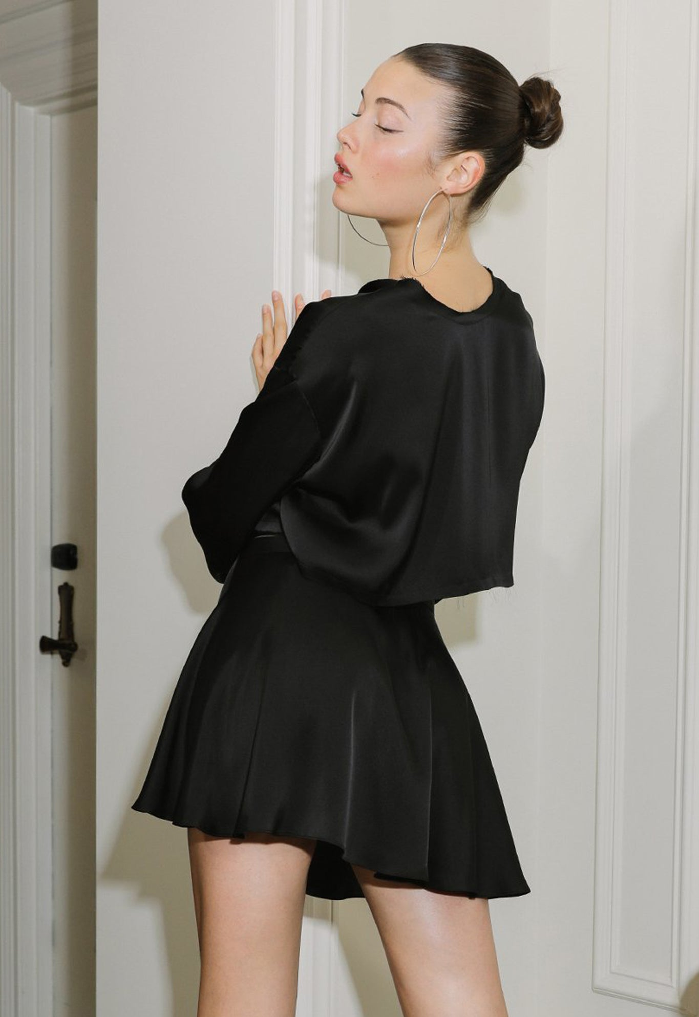 BALLERINA WRAP SKIRT BLACK