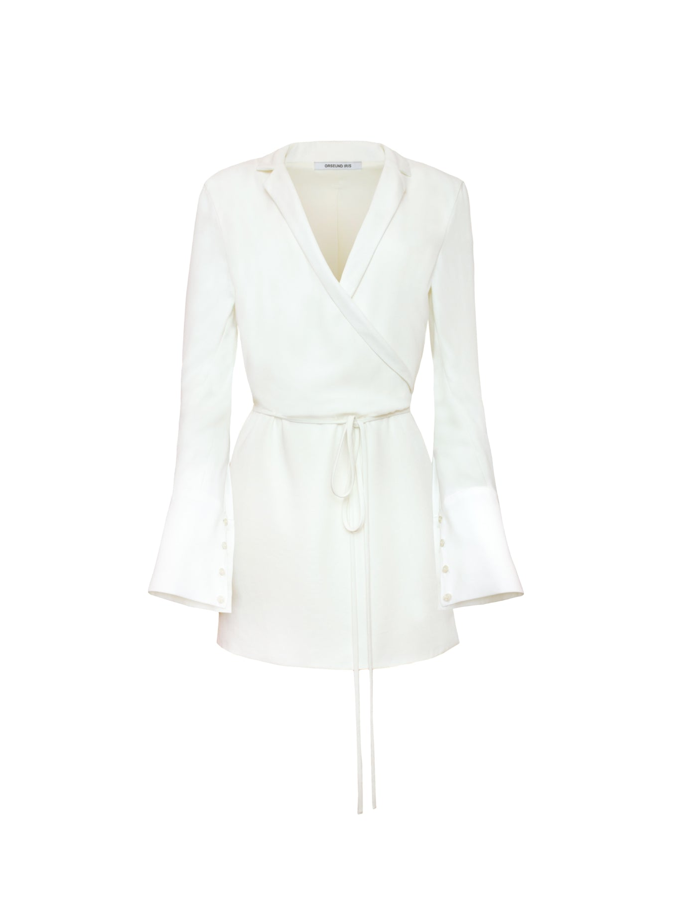 BOXY WRAP DRESS OFF-WHITE