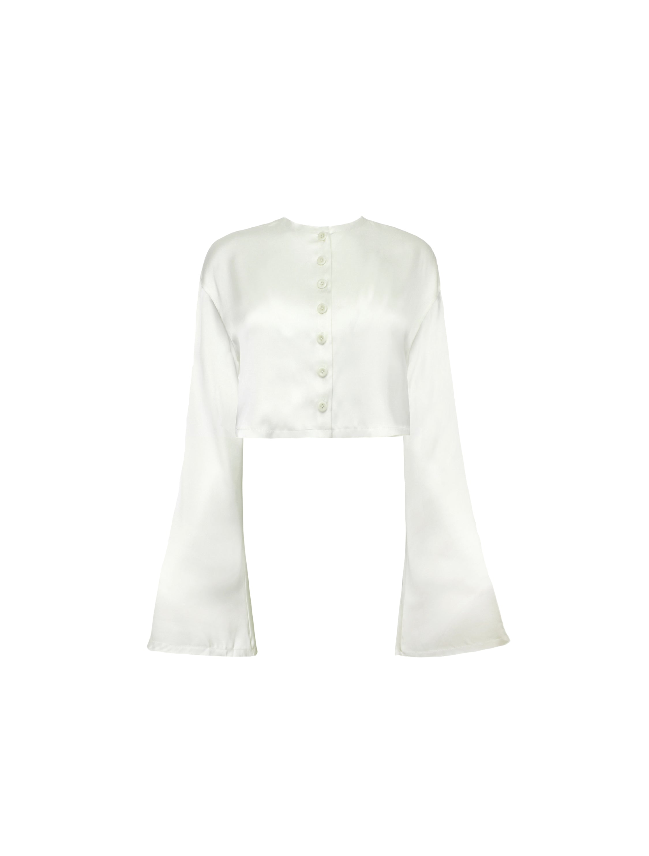 DROP SHOULDER REVERSIBLE BLOUSE IVORY