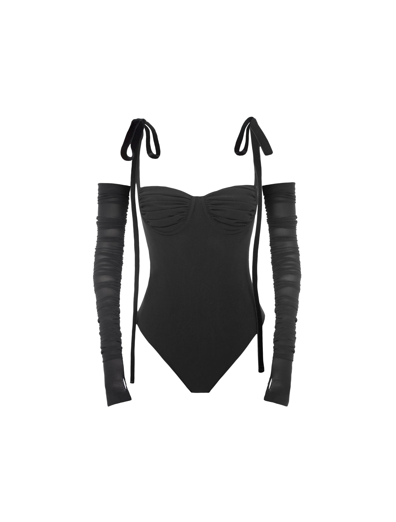 SULTRY GLOVE BODYSUIT BLACK
