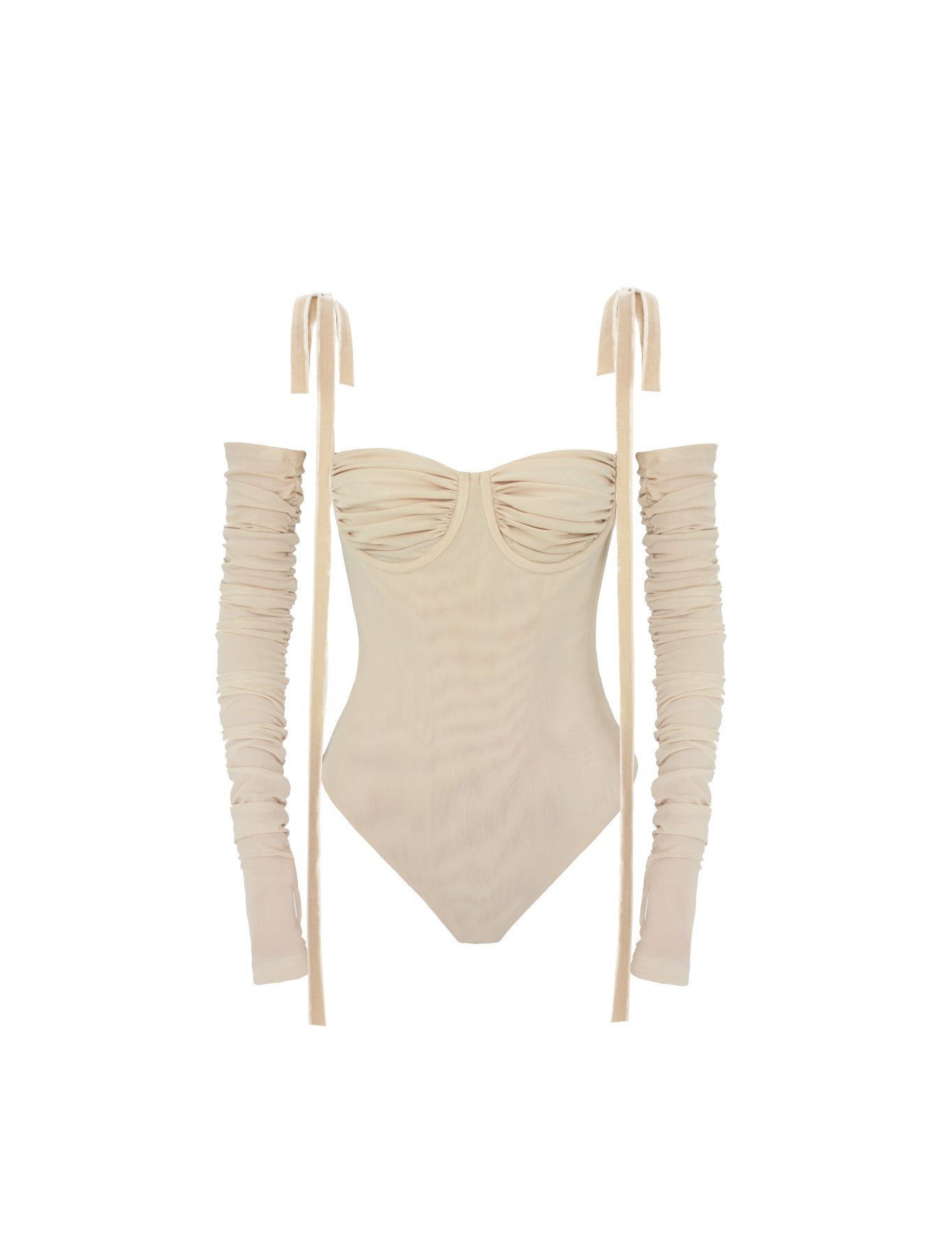 EXCLUSIVE SULTRY BODYSUIT OATMEAL