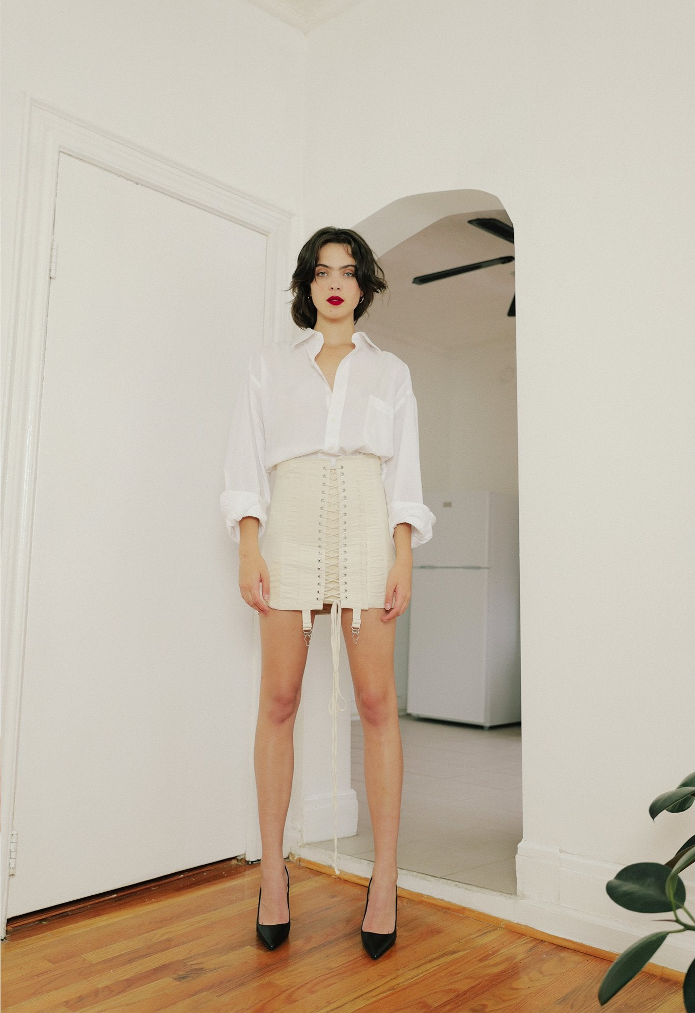 GAMINE SKIRT OFF WHITE