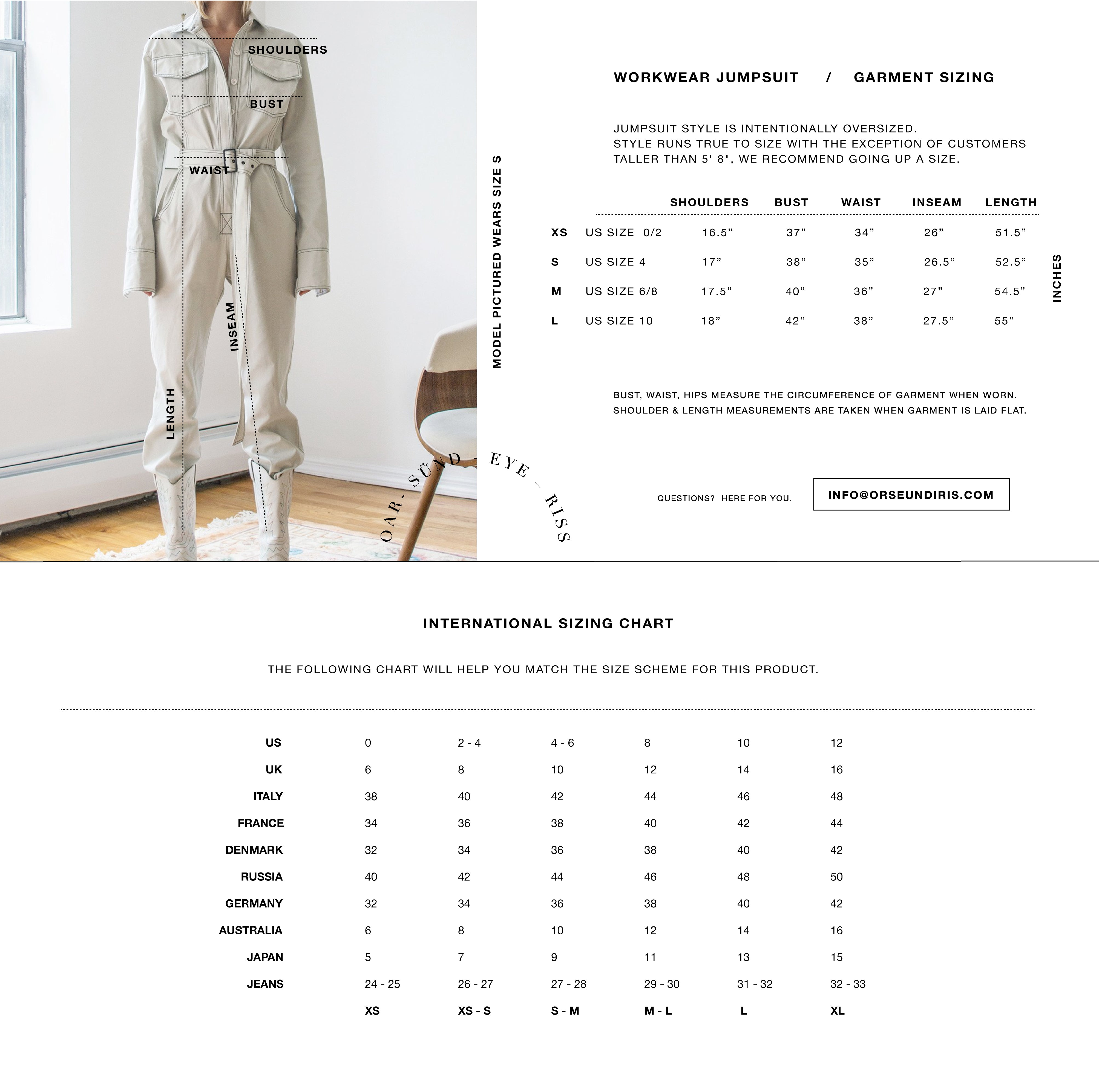 WORKWEAR JUMPSUIT OFF-WHITE