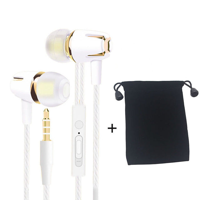 Wired Earphones 3.5mm Plug Earpiece Bass Sports Binaural Headsets with Mic Earbud for Xiaomi Huawei IPhone Samsung Phones PC MP3