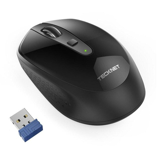 TeckNet 2000 DPI USB Ergonomic Optical Wireless Computer Mouse 2.4GHz Receiver Mouse For PC Laptop