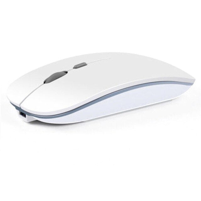 2.4GHz Rechargeable Wireless Mouse Silent Button Ultra Thin USB Optical Mice for Apple office gaming mouse