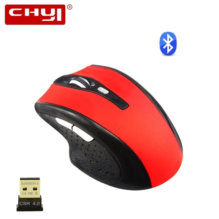 CHYI Silent Bluetooth Wireless Mouse Rechargeable Ergonomic Gaming Mice 1600DPI Optical Computer Mause With CSR 4.0 BT Adapter