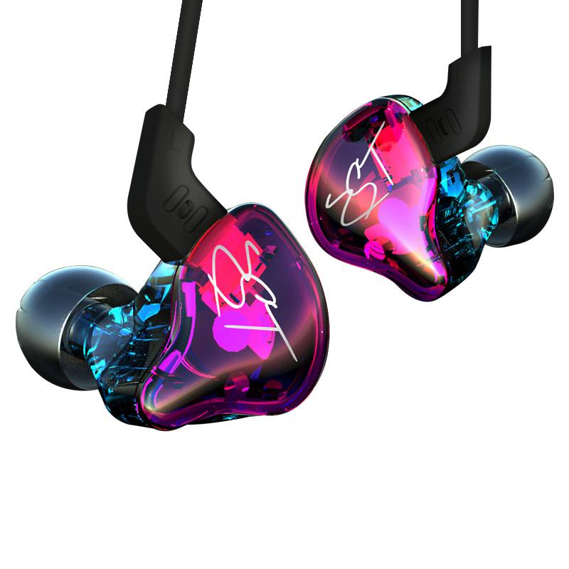 Original KZ ZST Colorful Hybrid Balanced Armature with Dynamic In-ear Earphone 1BA+1DD Hifi Headset For Iphone for Huawei