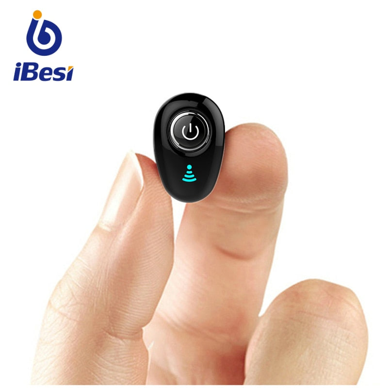 ASXB7  Mini Bluetooth Earphone Wireless Headphone In-Ear Invisible Earbuds Handsfree Headset Stereo with Mic for Phone