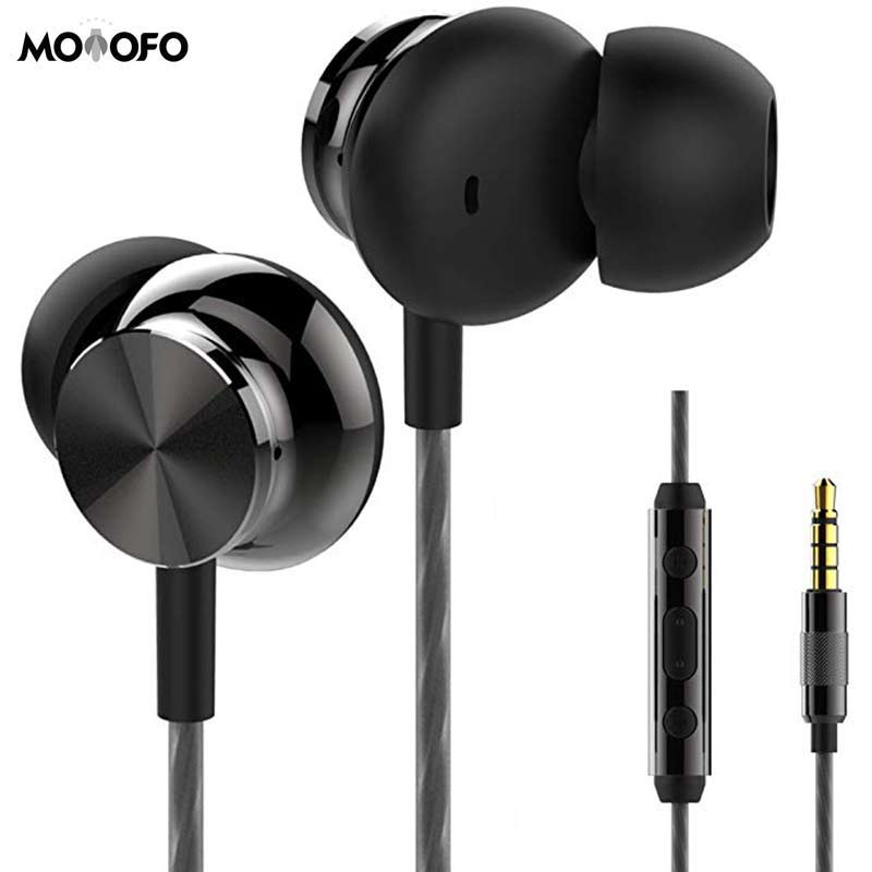 Earphones Headphones Powerful Bass Driven Sound Ergonomic Design with Remote Control and Microphone for iPhone iPad Samsung