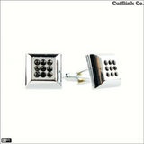 Square Crystal Cuff Links *Only Silver Left