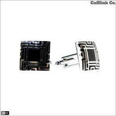 Square Two Tone Cuff Links