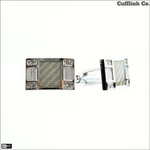 Rectangle Crystal Cuff Links