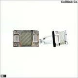 Rectangle Crystal Cuff Links *Only Silver Left