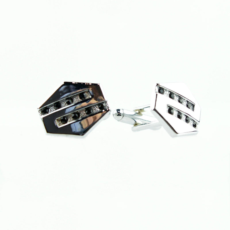 Chase S Style Rhinestone Cuff Links - New Edition Fashion