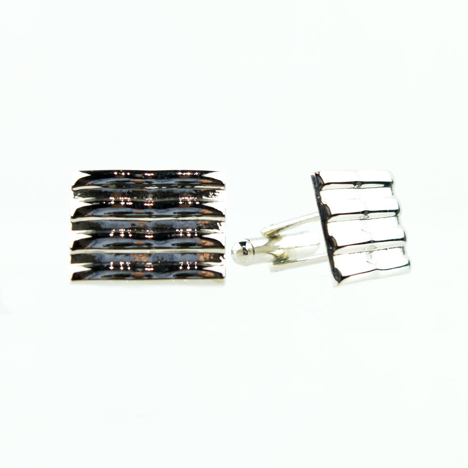 Rectangle Polished Cuff Links