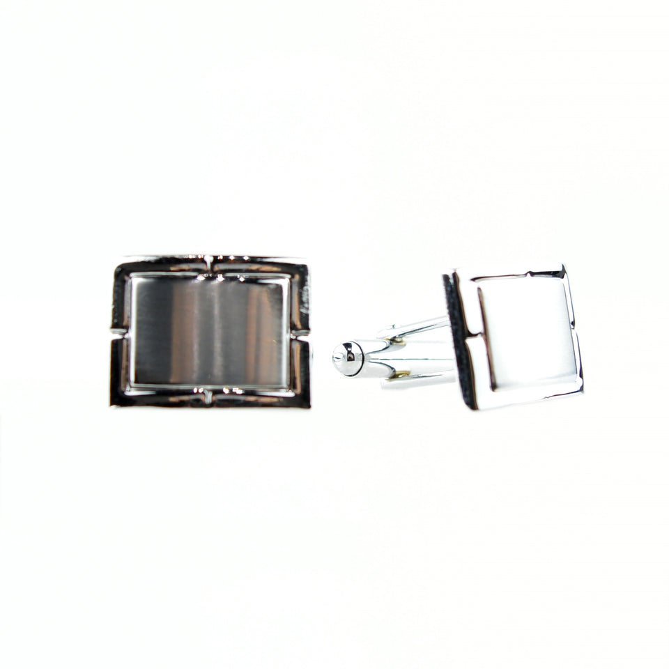 Rectangle Brushed Cuff Links