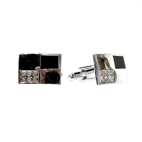 Rectangle Two Tone Cuff Links