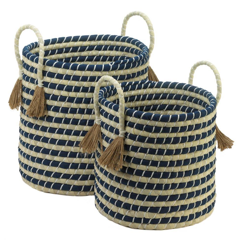 Braided Baskets With Tassels Vegas Central Goods