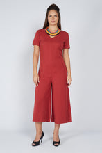Load image into Gallery viewer, Tie Jumpsuit Brick Red