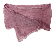 Load image into Gallery viewer, Crinkled Linen Scarf Pink