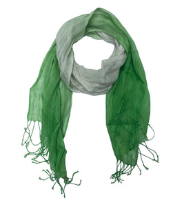 Gradient Scarf Green with Tassel
