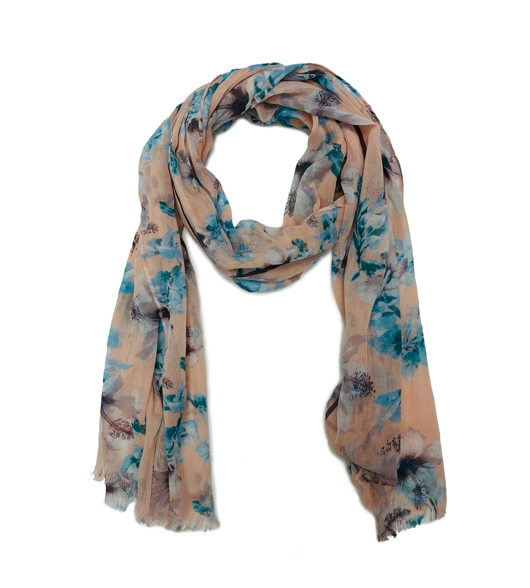Cotton Floral Scarf