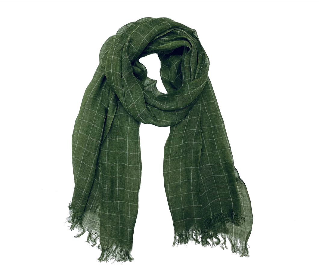 Green Plaided Scarf