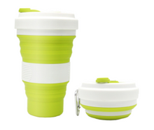 Load image into Gallery viewer, Collapsible Coffee Cup White Design 550ml (C1)