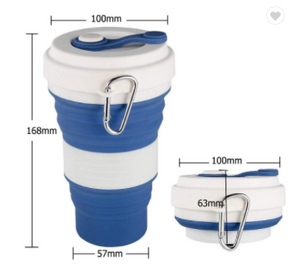 Collapsible Coffee Cup White Design 550ml (C1)