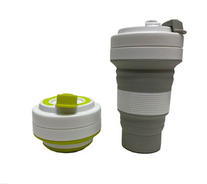 Collapsible Coffee Cup White Design 550ml (M2)
