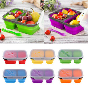 Collapsible Lunch Box 2 Compartments